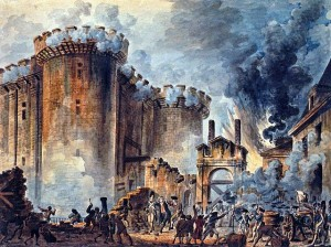 """The Storming of the Bastille"" - Jean-Pierre Houël"